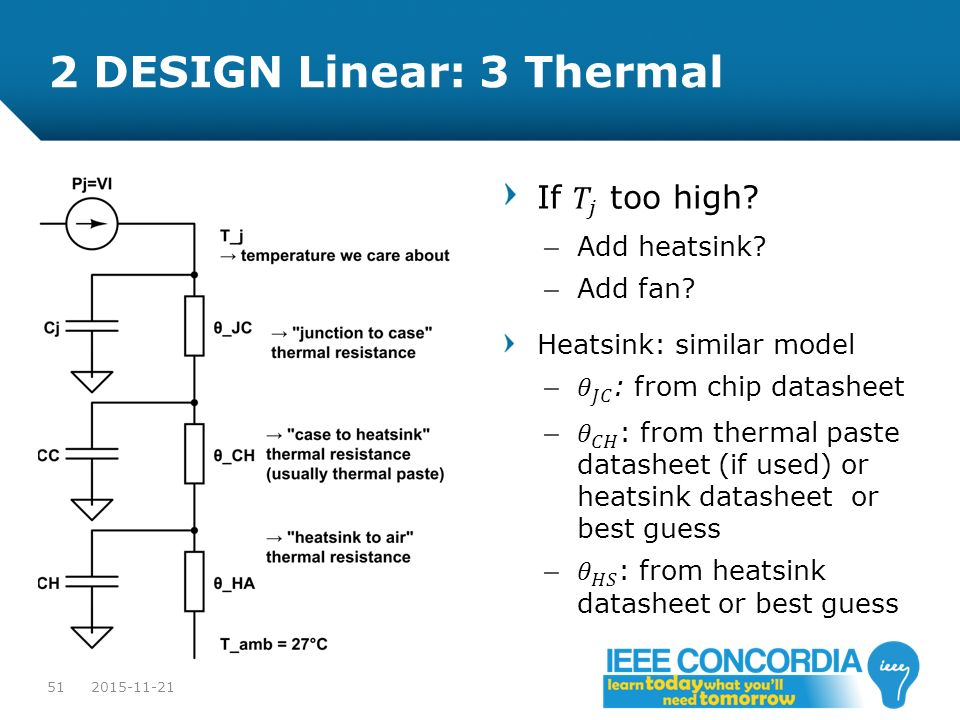 2 DESIGN Linear: 3 Thermal