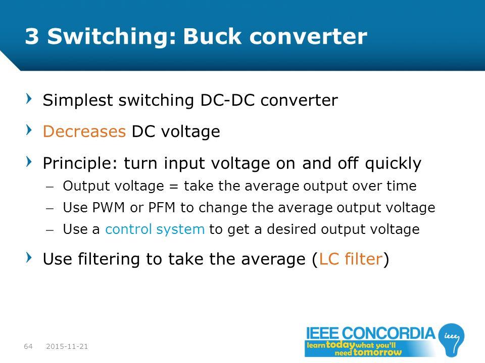 3 Switching: Buck converter