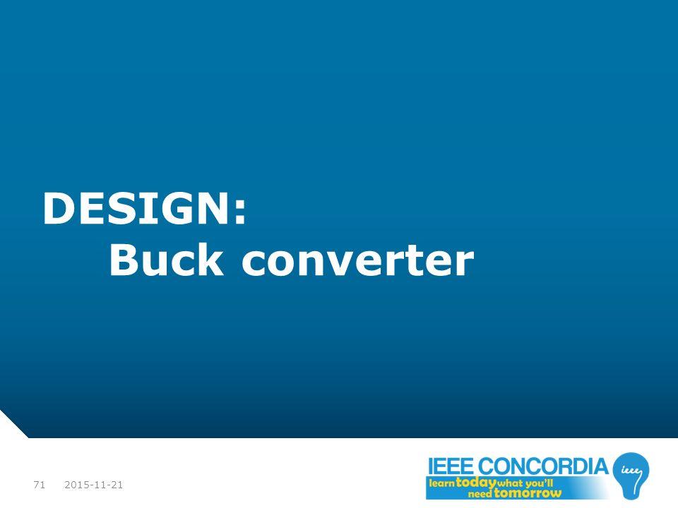 DESIGN: Buck converter