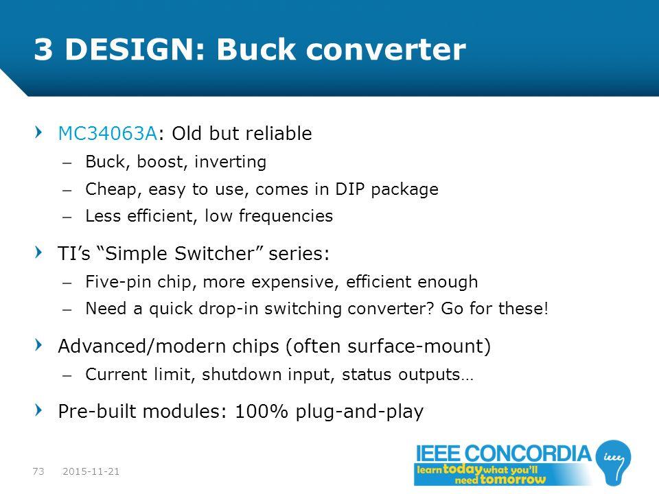 3 DESIGN: Buck converter