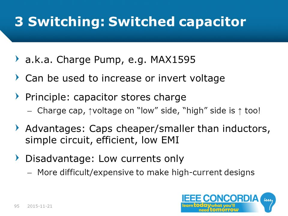3 Switching: Switched capacitor
