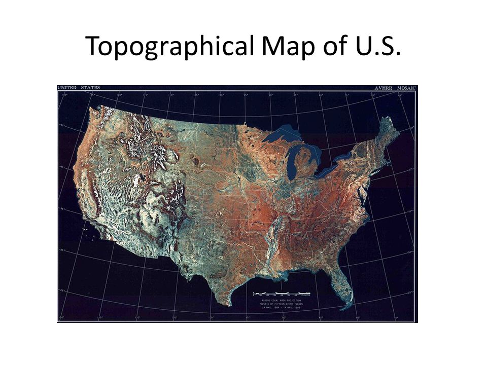 7 Topographical Map Of U S