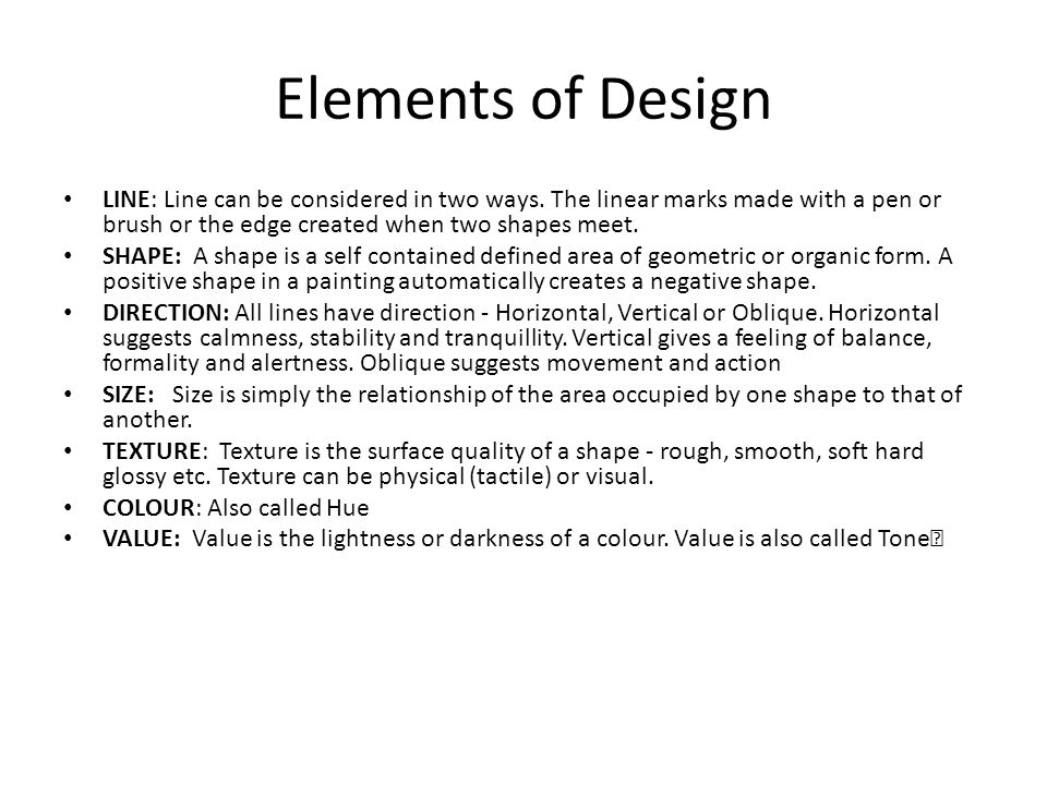 Elements Of Design Form Definition : Elements and principles of design ppt video online download