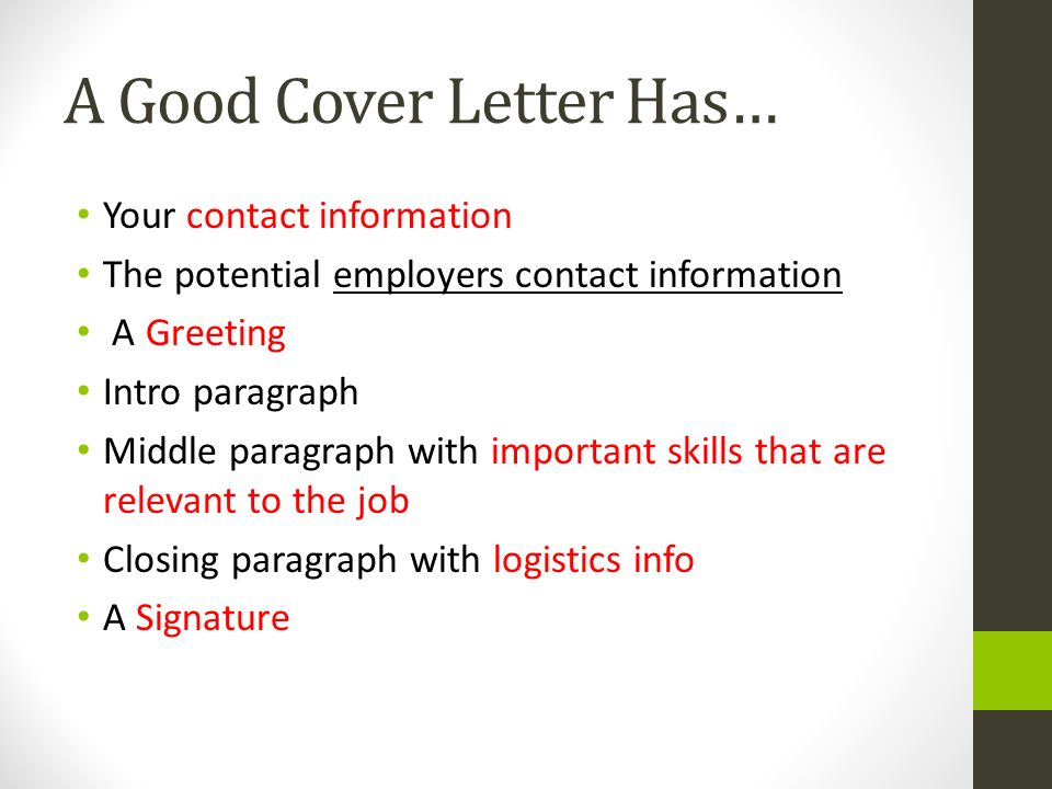 Closing paragraph for job cover letter for Closing paragraph of a cover letter