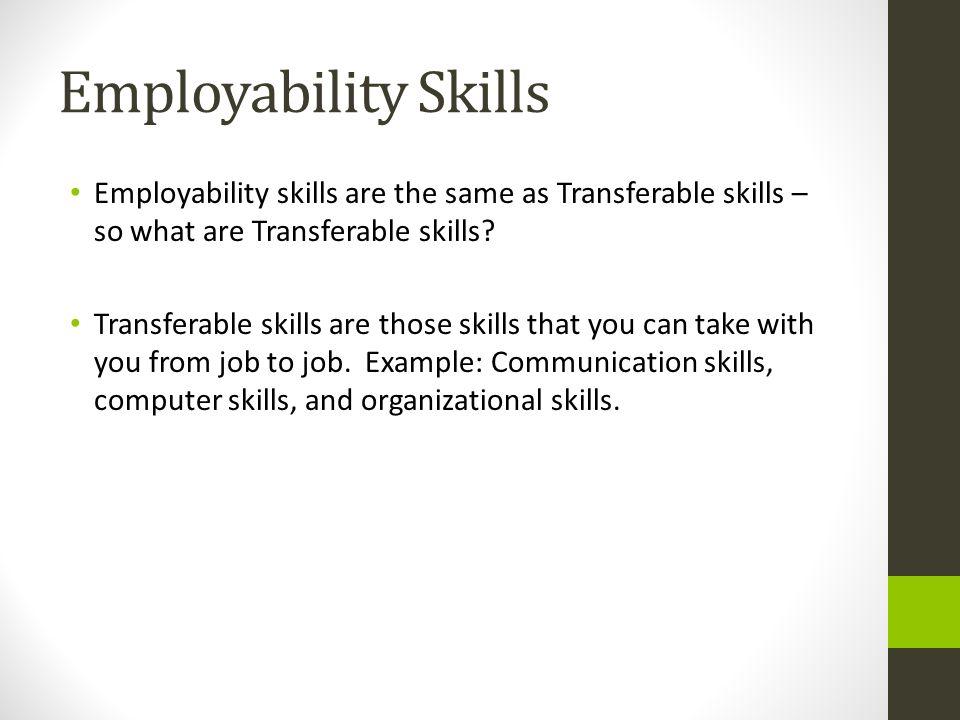 Transferable Job Skills Resume