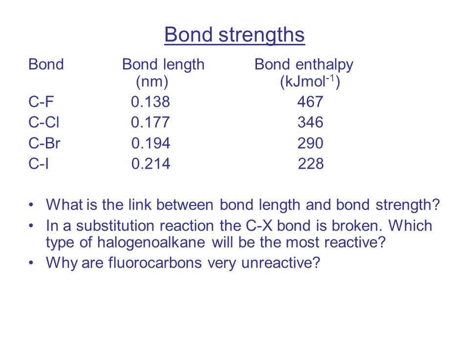 explain the relationship between bond order and length of hbr