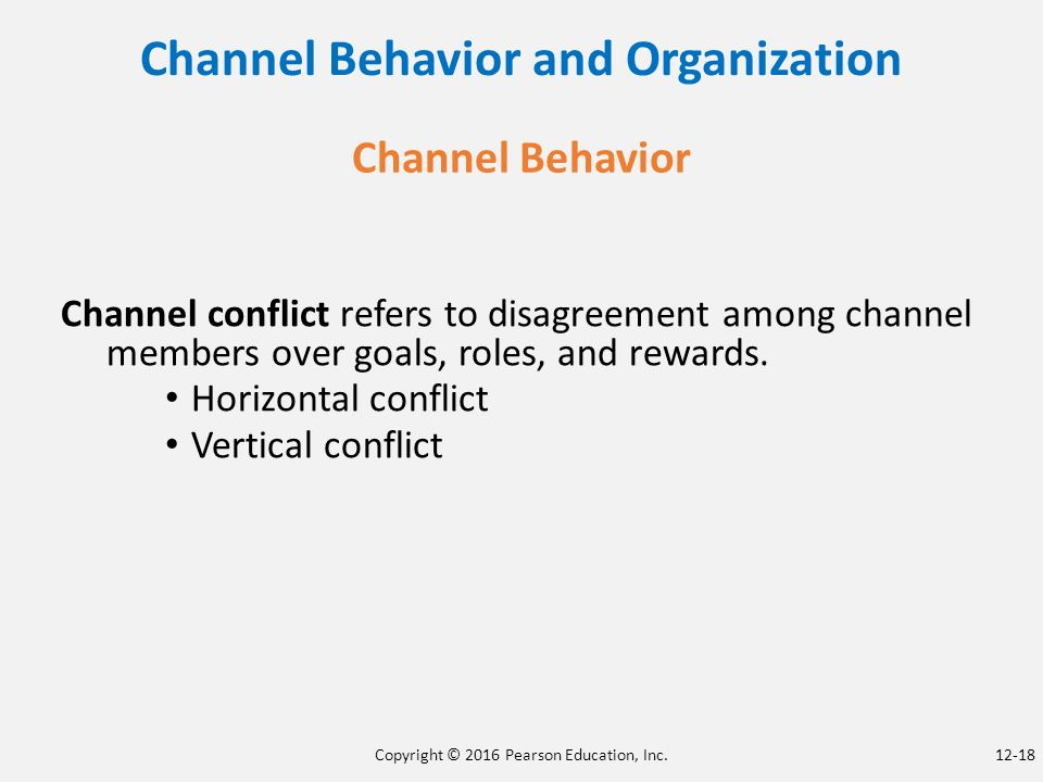 examples of channel conflict As i am working in fmcg industry, these are my insights from what i have  experienced - 1 channel partners and producers have.