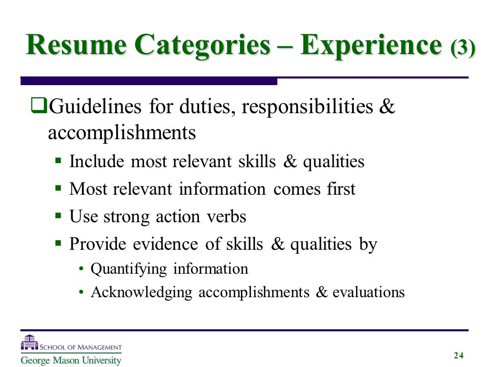 Writing A Great Resume Created By George Mason University  Ppt