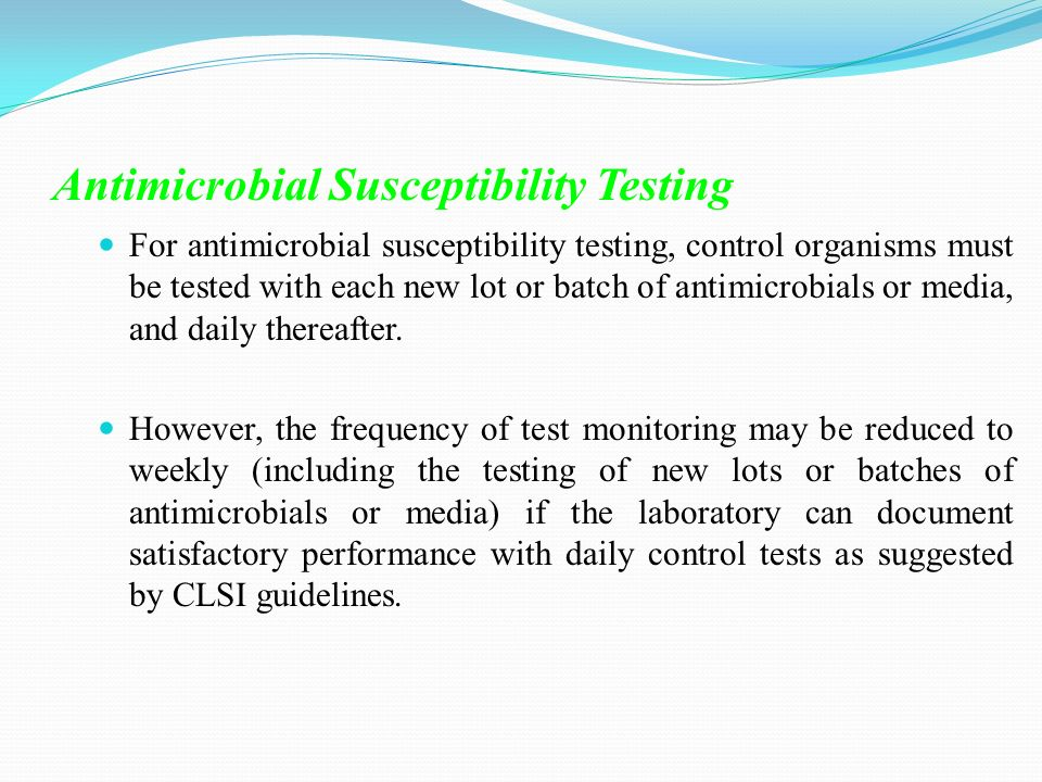 clsi guidelines for antimicrobial susceptibility testing