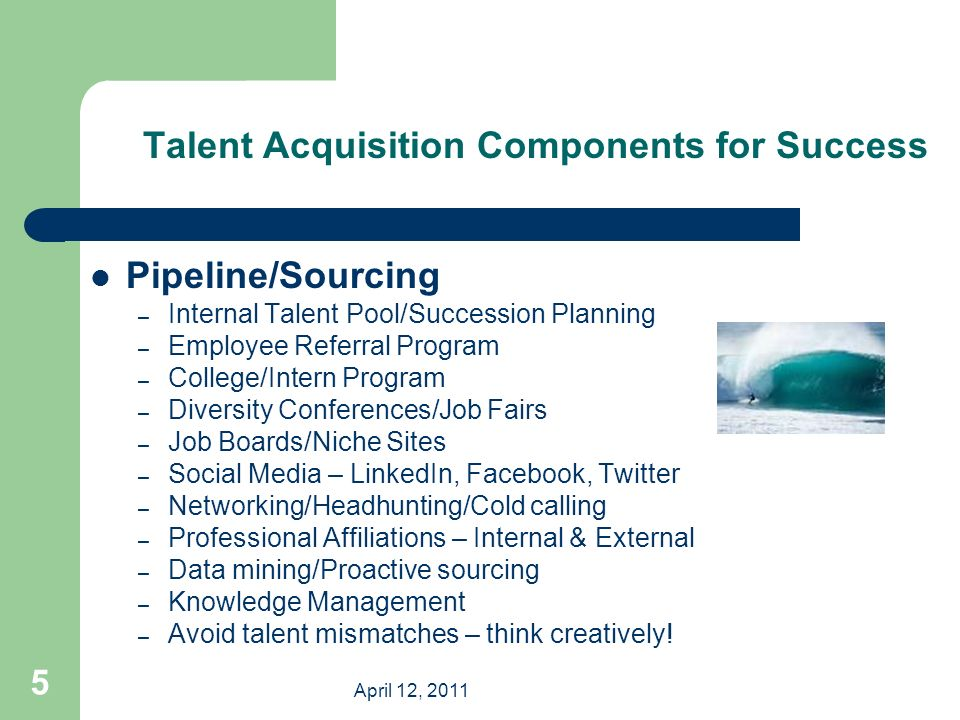 Talent Acquisition Essential Components Of Success For
