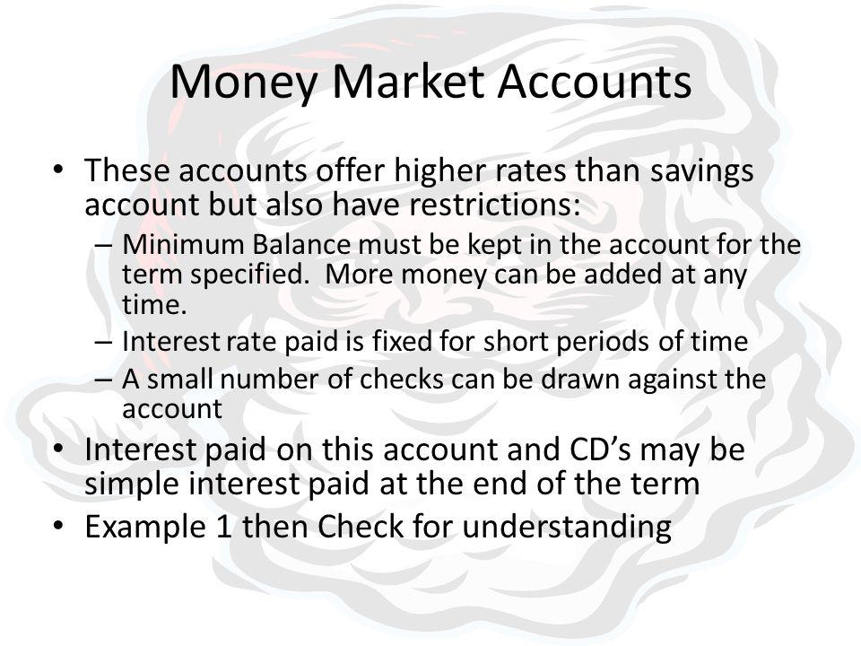 3 7 money market and cd accounts