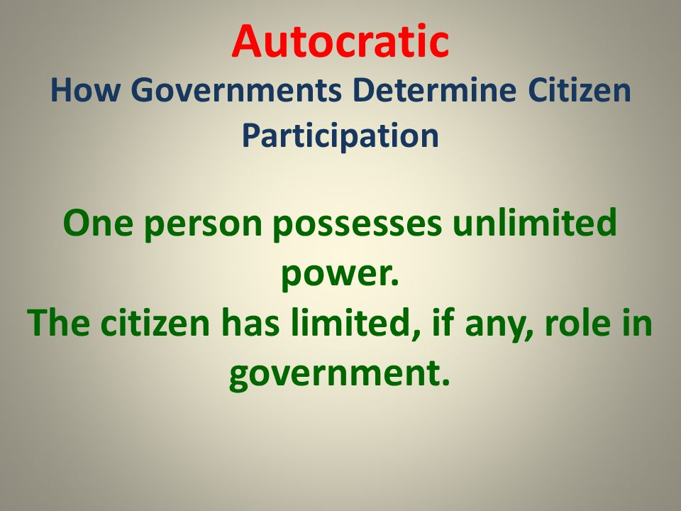 the role of citizen political participation Citizen's participation is a process which provides private  participate in a  political discussion to state our opinion about politics and hear to.