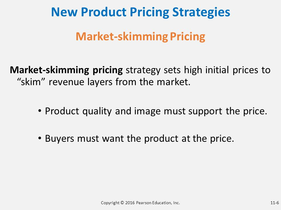 new product pricing strategies In the textbook, there are two ways to pricing strategies a company can implement when introducing a new product they are market-skimming pricing and market penetration pricing.