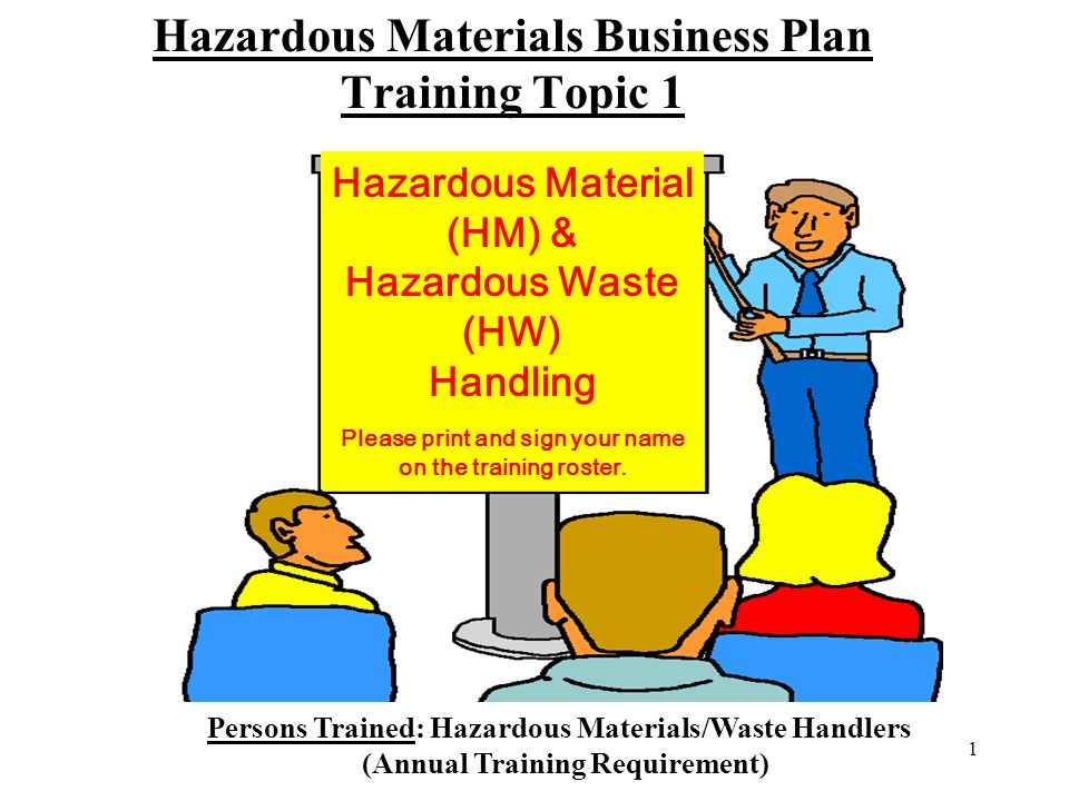Hazardous materials business plan requirements