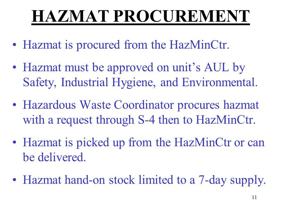 Hazardous materials business plan training