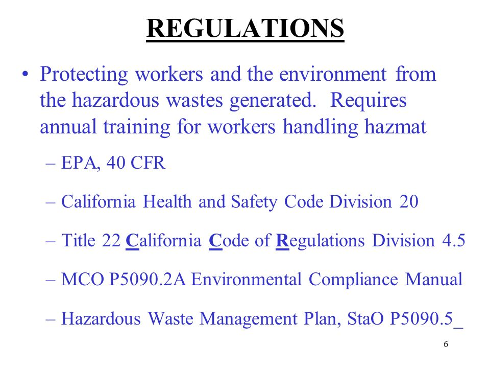 hazardous materials business plan program