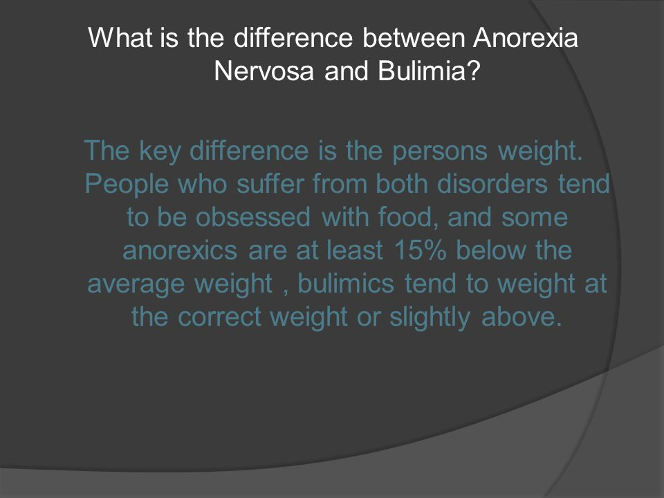 Anorexia nervosa and bulimia nervosa essay