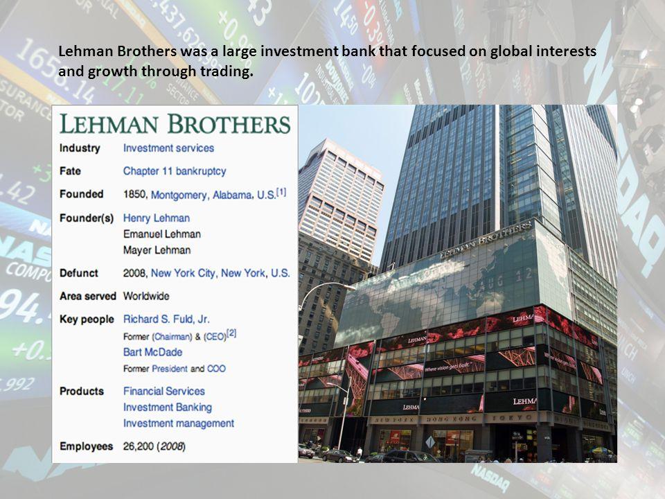 Lehman global trading strategies