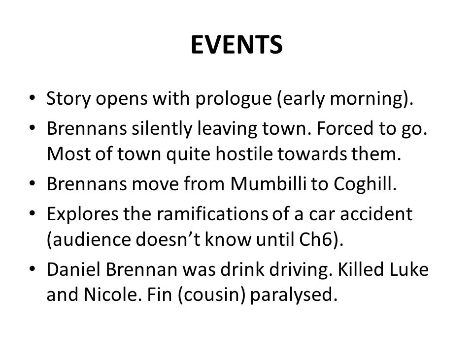 """tom brennan the prologue """"my name is tom brennan and this is my story"""" is a literal invitation by the protagonist to visually witness his life story in the story of tom brennan by jc burke, tom's story is told where he changes mentally to cope with the tragic accident and consequences of his brother daniel going to jail."""