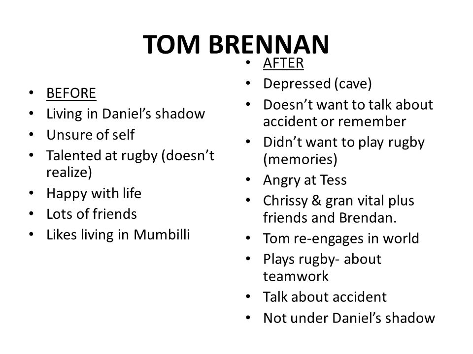 tragedy in tom brennan He was chief of staff to former rep tom  just because they witnessed a tragedy and  brennan gilmore works in rural workforce.