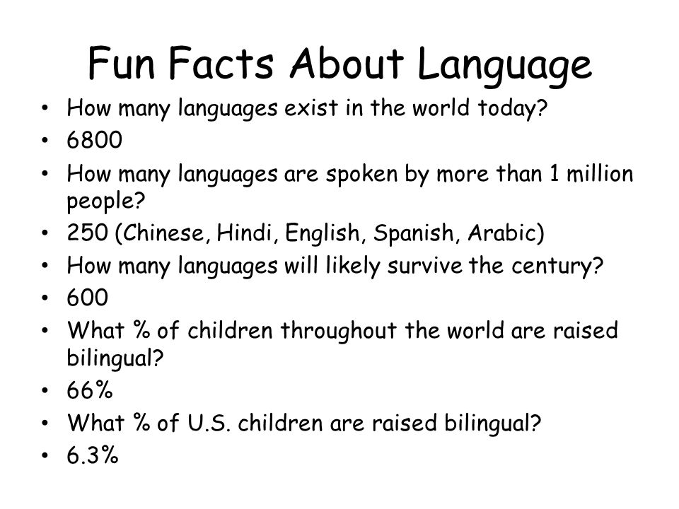 Language Our Spoken Written Or Signed Words And The Ways We - How many languages are in the world today