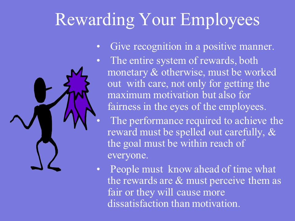 Rewarding Your Employees