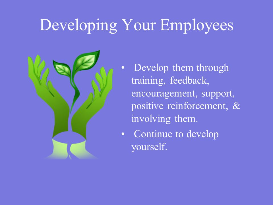 Developing Your Employees