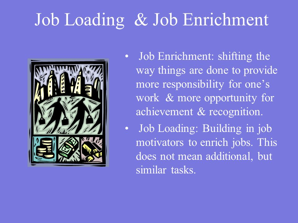Job Loading & Job Enrichment