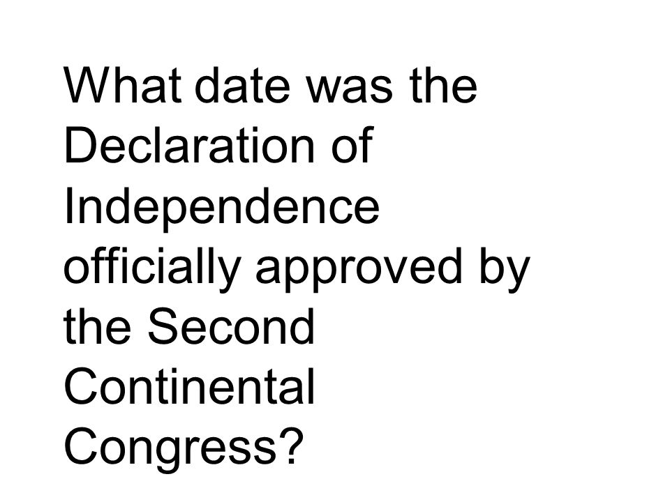 Second continental congress date in Perth