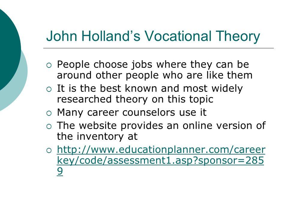 Free Essay: Holland Theory - studymode.com