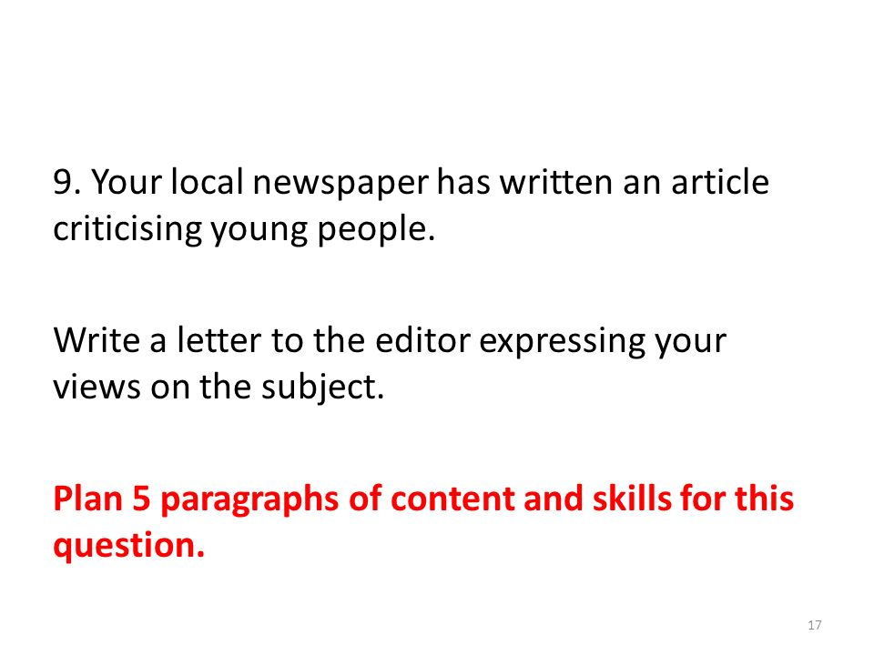 How to Write a Letter to the Editor of a Newspaper