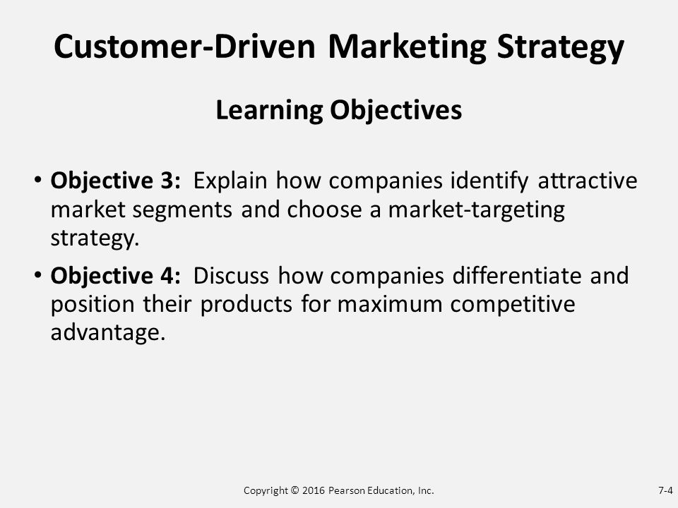 explain how companies identify attractive market Senior management may also be able to identify attractive market segments for the company inputs.