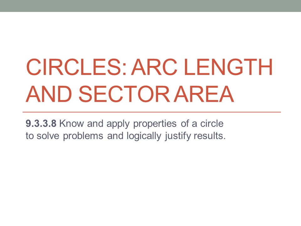 how to find the area of a sector with circumference