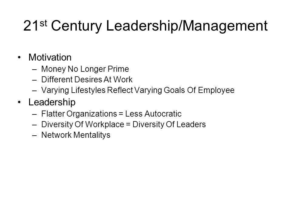 21st Century Leadership/Management