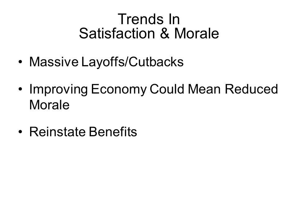 Trends In Satisfaction & Morale