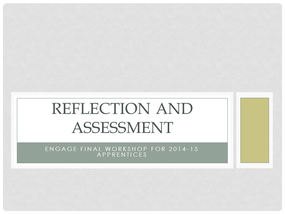 community assessment reflection Using reflection for assessment novice apprentice proficient distinguished student accepts things at face value, as if all opinions are stated.
