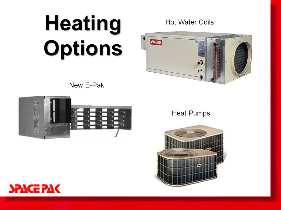 System components let s take a look at the spacepak system for Heating options