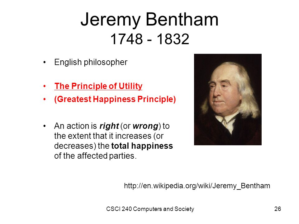 understanding utilitarianism and jeremy bethans views about it