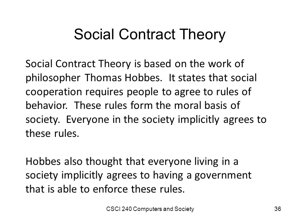 hobbes on social contract In hobbes' view of the social contract have proposed their differing ideas of social contract theory social contractarians social contract theory.