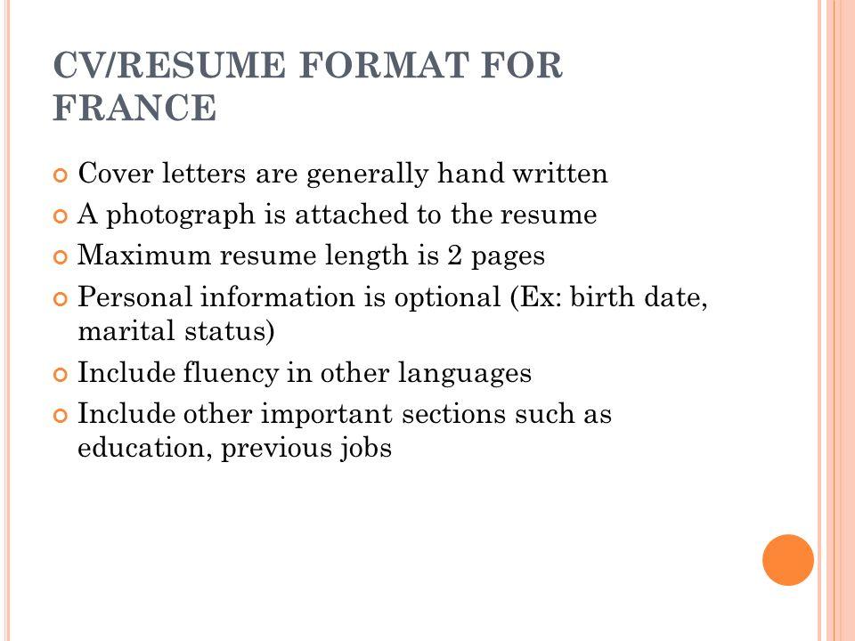 Ideal Resume Length 13 CvResume How To Design An Effective Cv