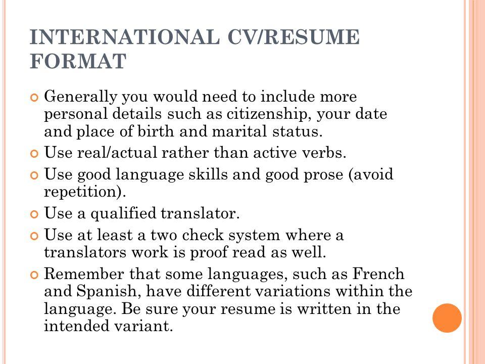 marital status resume cv resume letters of intent preparation cv