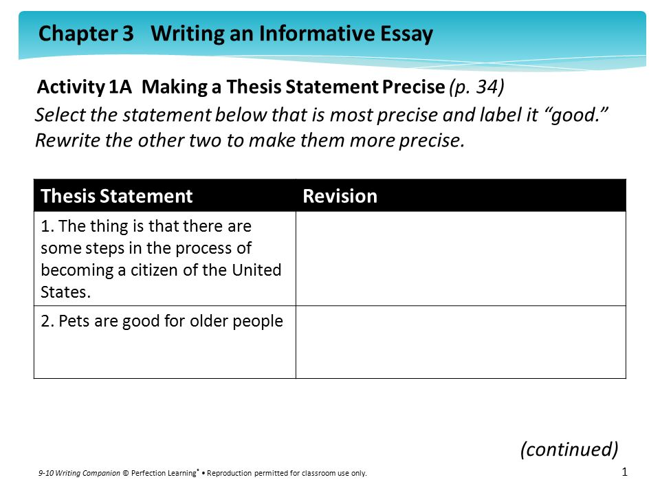 steps to making a thesis statement A thesis statement provides the foundation for your entire research paper or essay this statement is the central assertion that you want to express in your essay put another way, a thesis statement is a one-sentence, or occasionally a two-sentence, statement of your central idea, say diane hacker.