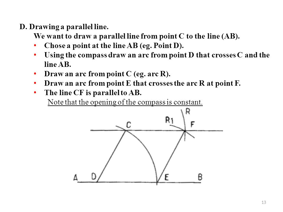 Drawing Lines With D : Geometric construction ppt video online download