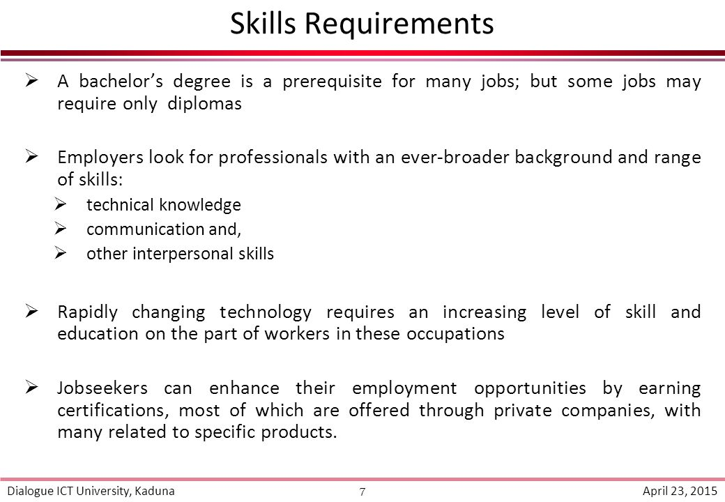 what skills do jobs look for