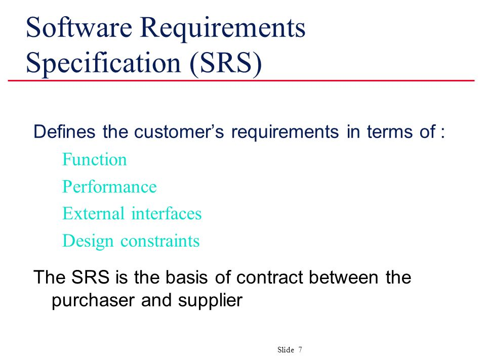 srs document in software engineering pdf