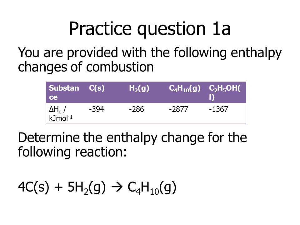 Lesson 6 Hess Law And Enthalpy Cycles Using Enthalpy Of