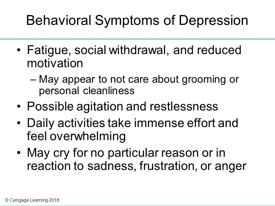 an overview of the motivational symptoms of depression Symptoms of depression grohol, j (2016) an overview of depression psych depression overview symptoms causes treatment quiz faq in-depth look support.