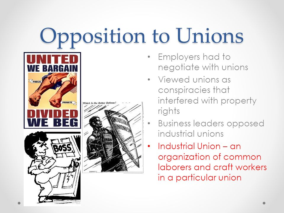 Craft Unions Industrial Unions