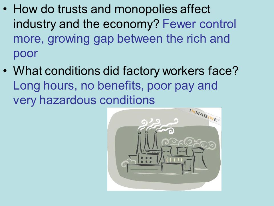 how workers in the us were affected during the industrialization During the second industrial revolution the united states produced one-third of the world his factories operated around the clock and workers were burdened.