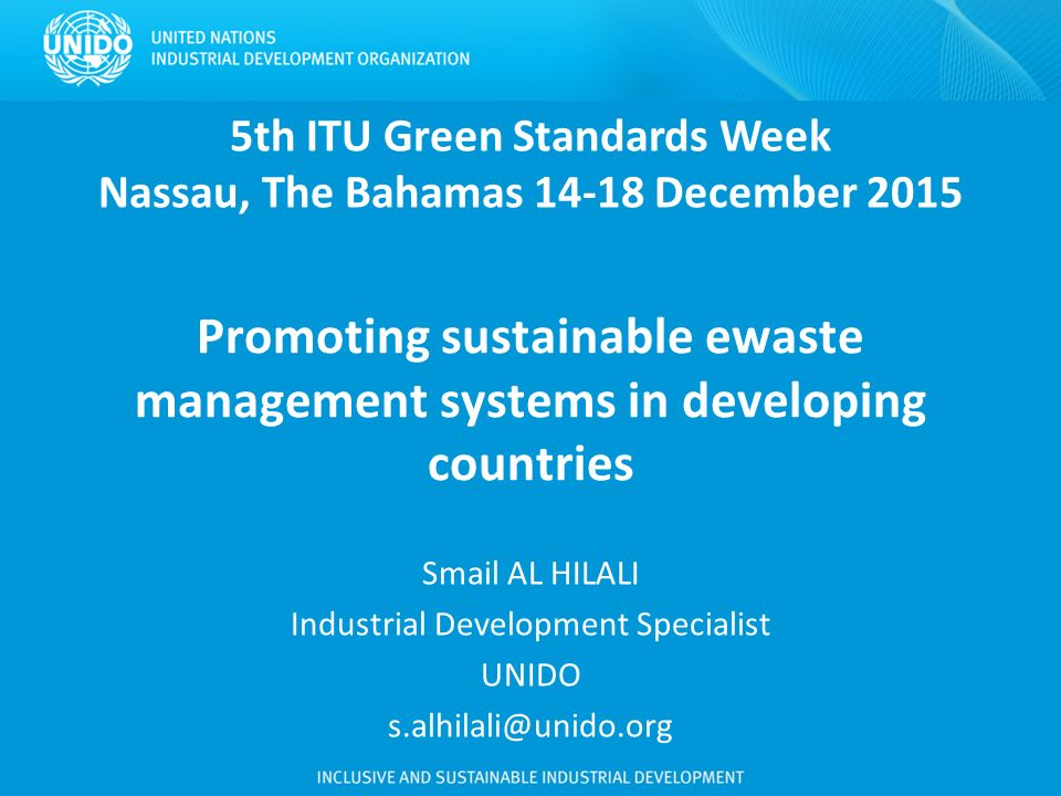 Th ITU Green Standards Week Nassau The Bahamas December Ppt - Bahamas in december